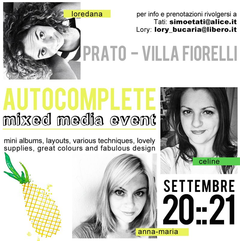 Prato scrapbooking event